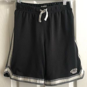 OshKosh B'Gosh Black/Gray/White Thick-Lined Shorts